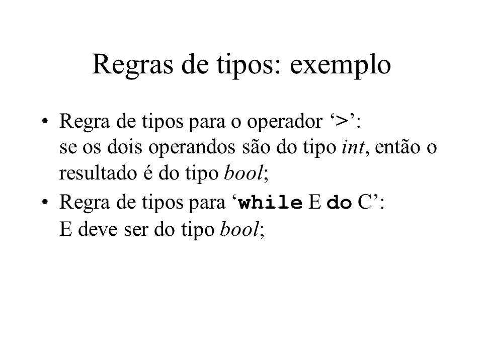 Regras de tipos: exemplo