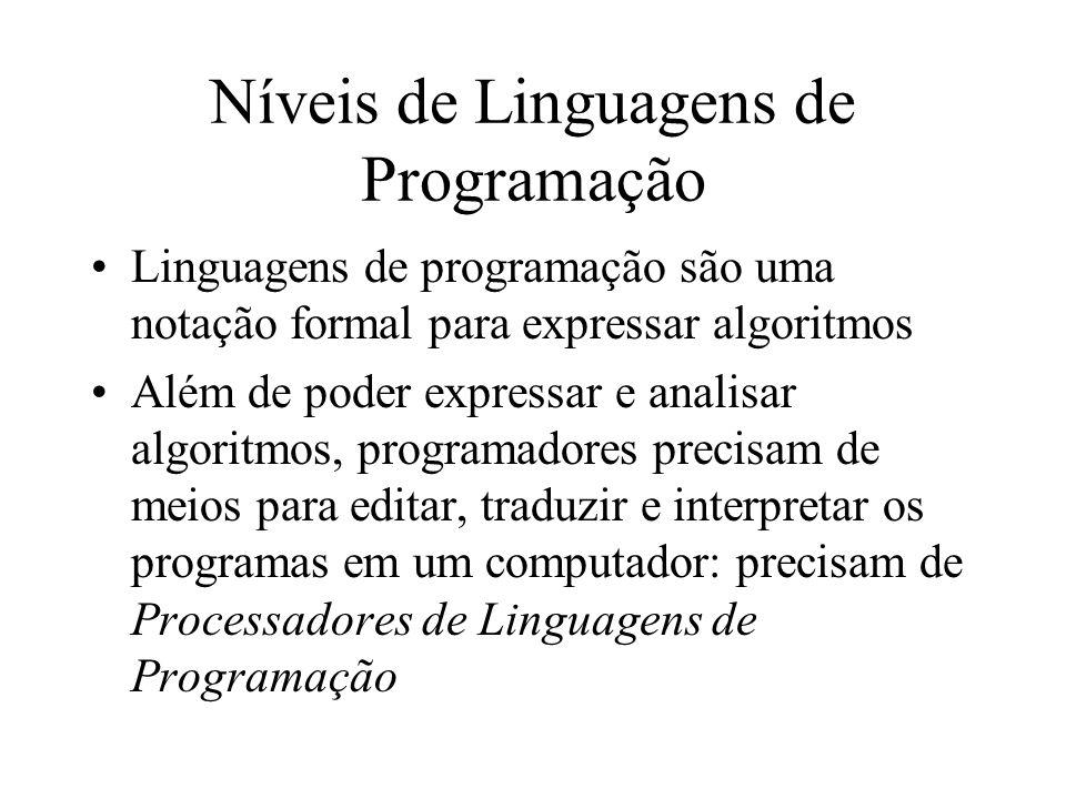 Níveis de Linguagens de Programação