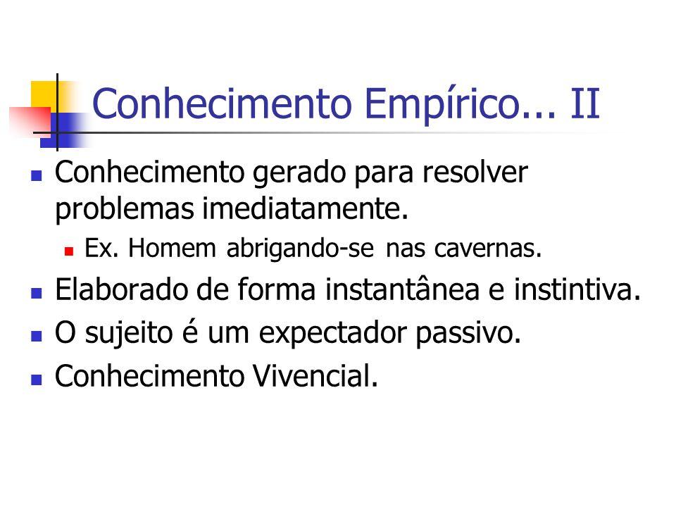 Conhecimento Empírico... II