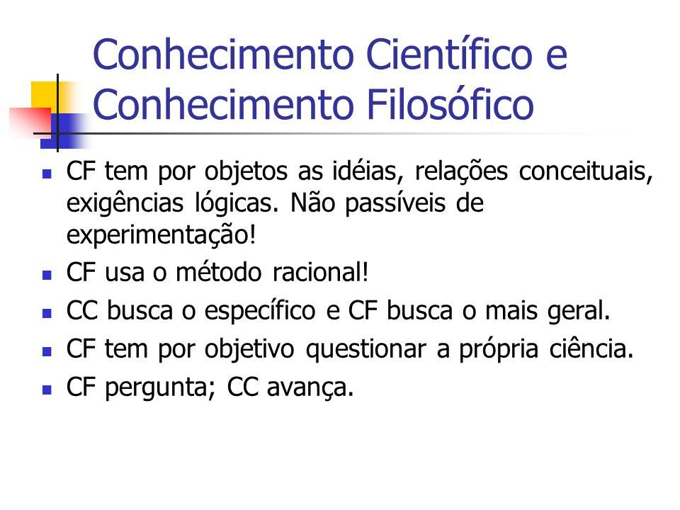 Conhecimento Científico e Conhecimento Filosófico