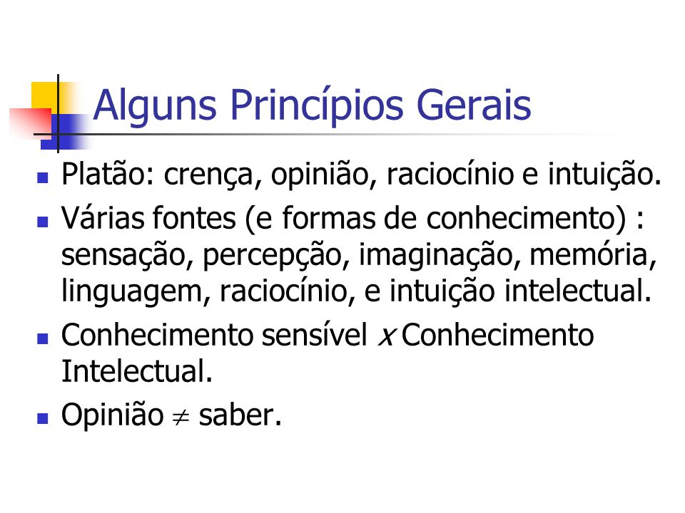 Alguns Princípios Gerais