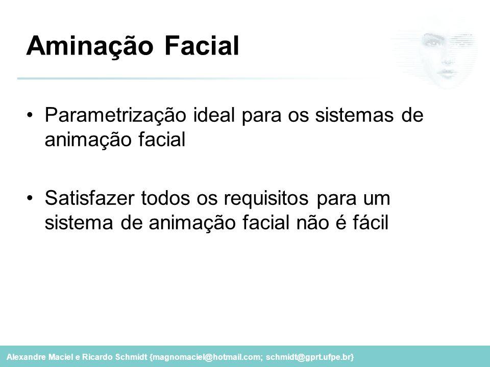 Aminação Facial Parametrização ideal para os sistemas de animação facial.