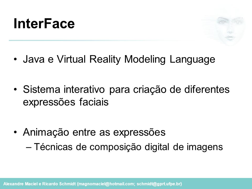 InterFace Java e Virtual Reality Modeling Language
