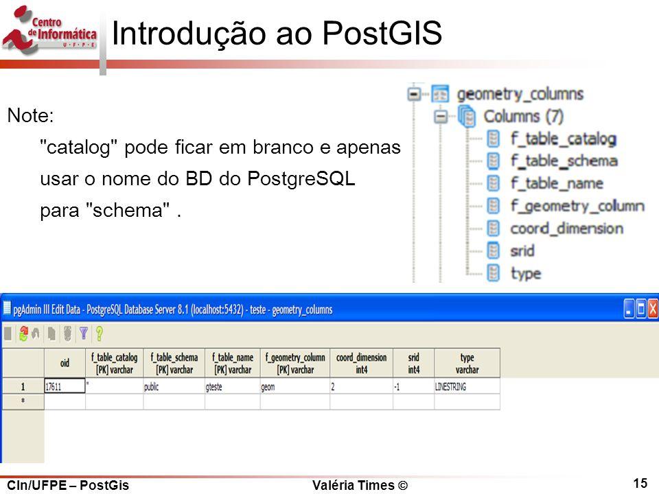 Introdução ao PostGIS Note: