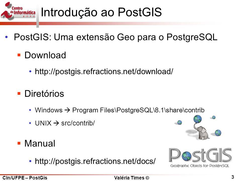 Introdução ao PostGIS PostGIS: Uma extensão Geo para o PostgreSQL