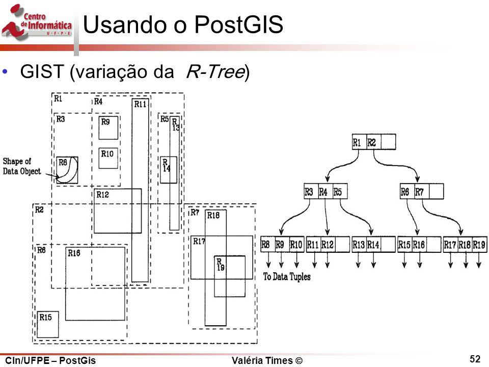 Usando o PostGIS GIST (variação da R-Tree)