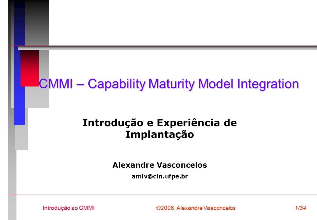 CMMI – Capability Maturity Model Integration