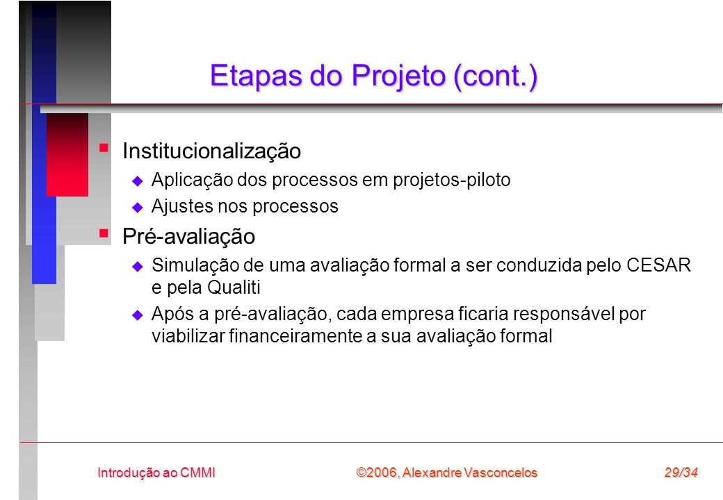 Etapas do Projeto (cont.)