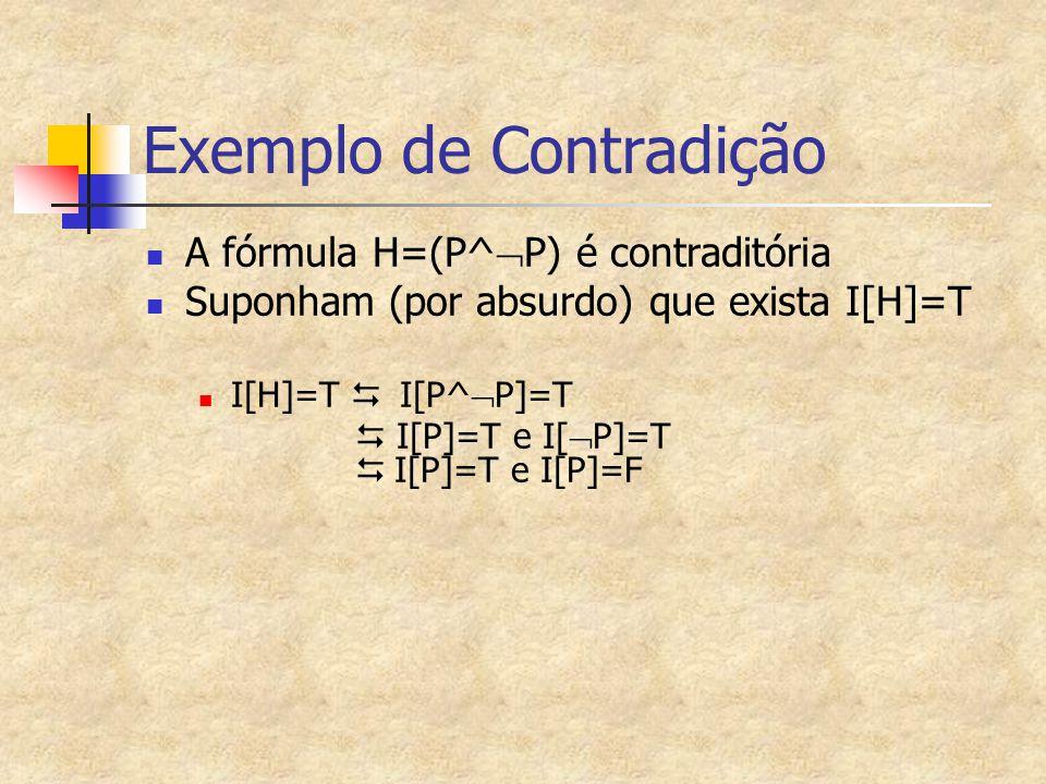 Exemplo de Contradição