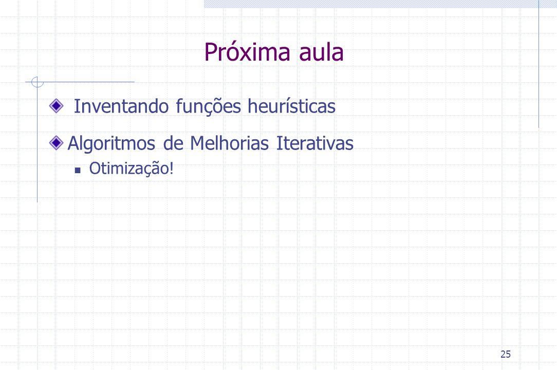 Próxima aula Inventando funções heurísticas