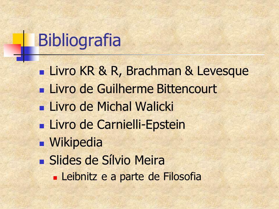 Bibliografia Livro KR & R, Brachman & Levesque