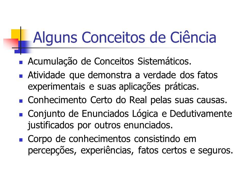 Alguns Conceitos de Ciência
