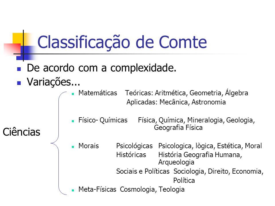 Classificação de Comte