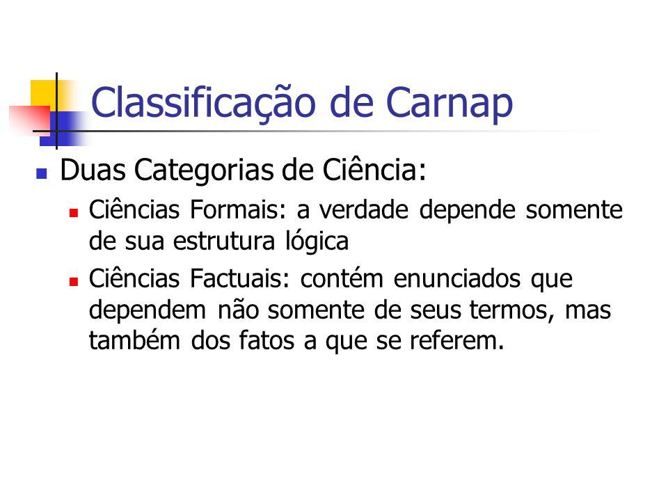 Classificação de Carnap