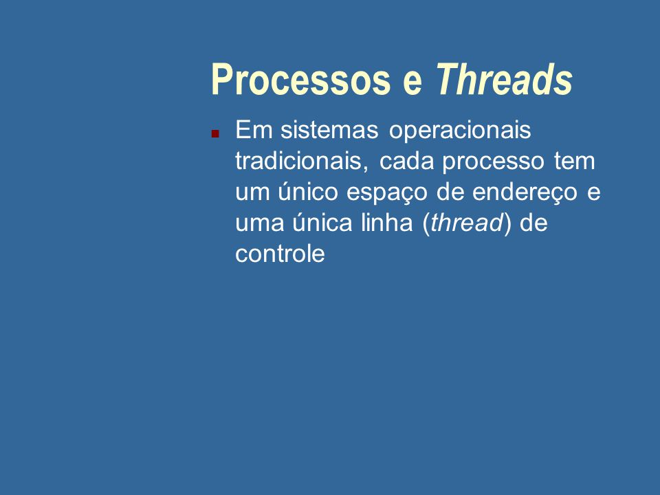 05/04/2017 Processos e Threads.