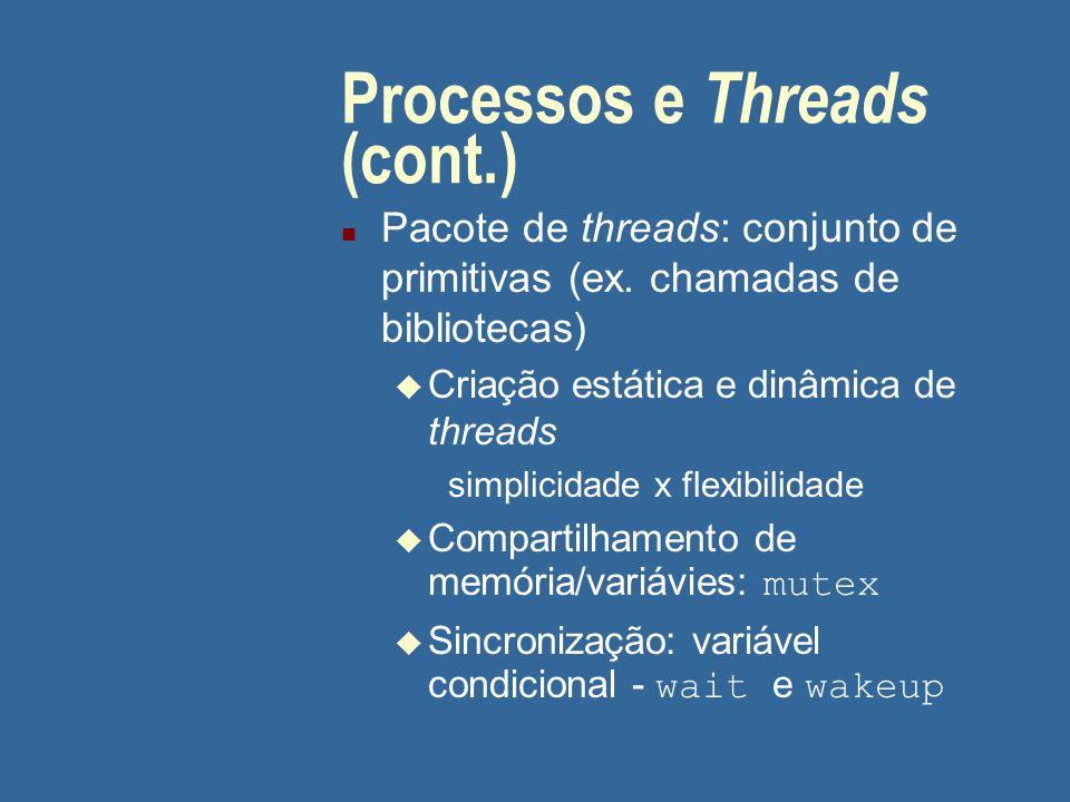 Processos e Threads (cont.)