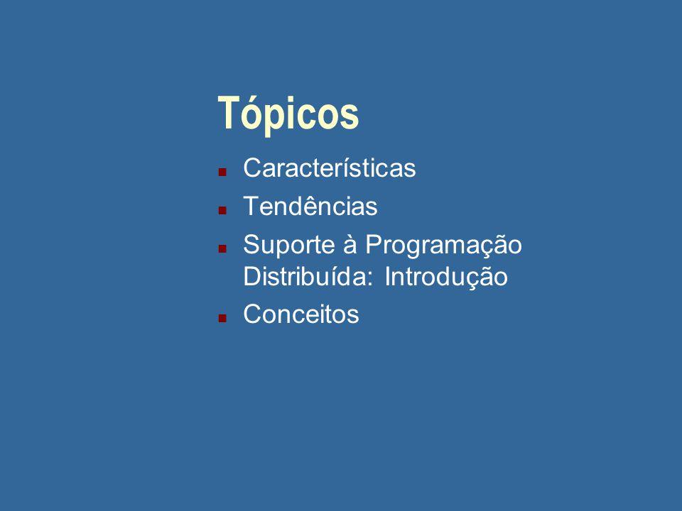 Tópicos Características Tendências