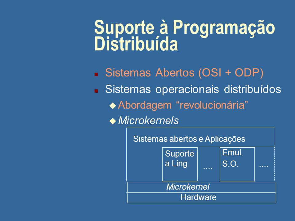 Suporte à Programação Distribuída