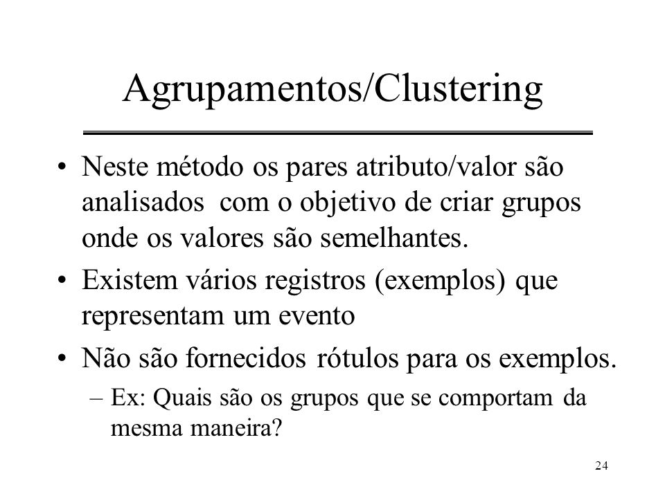 Agrupamentos/Clustering