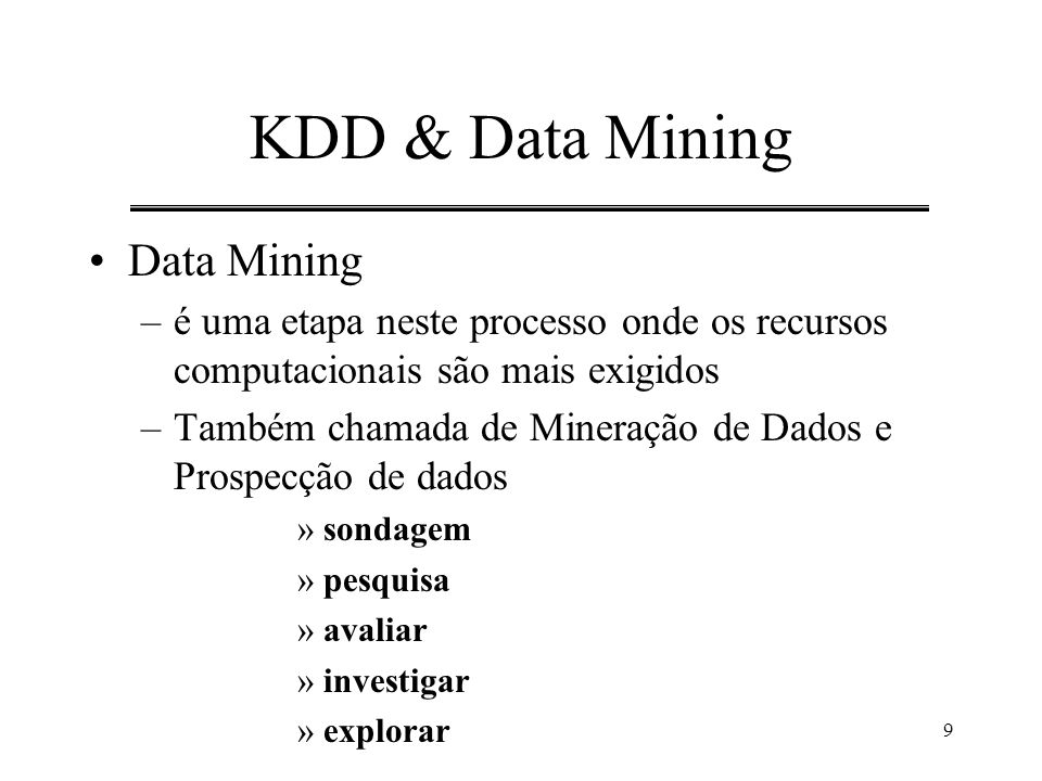 KDD & Data Mining Data Mining