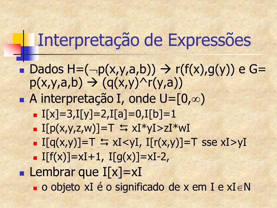 Interpretação de Expressões