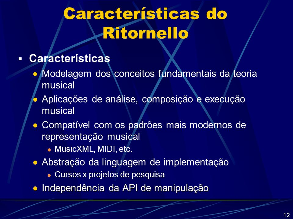 Características do Ritornello
