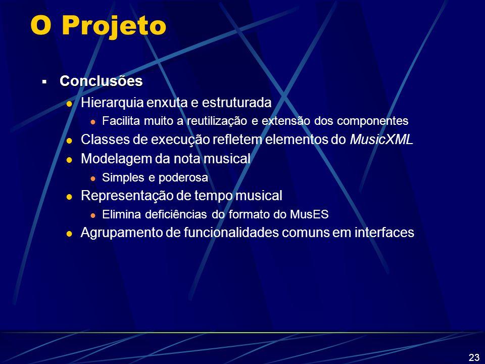 O Projeto Conclusões Hierarquia enxuta e estruturada