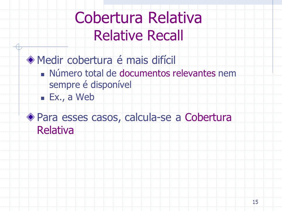 Cobertura Relativa Relative Recall