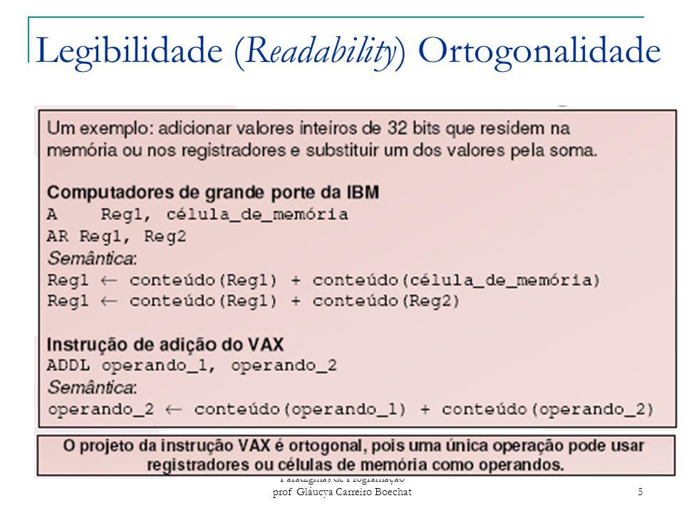 Legibilidade (Readability) Ortogonalidade