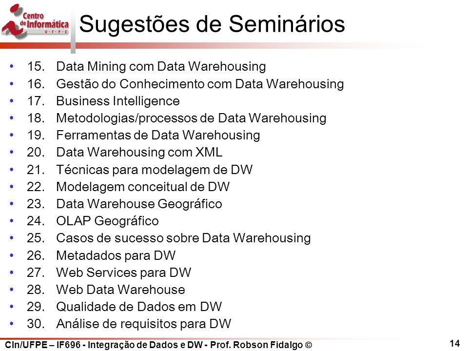 Sugestões de Seminários