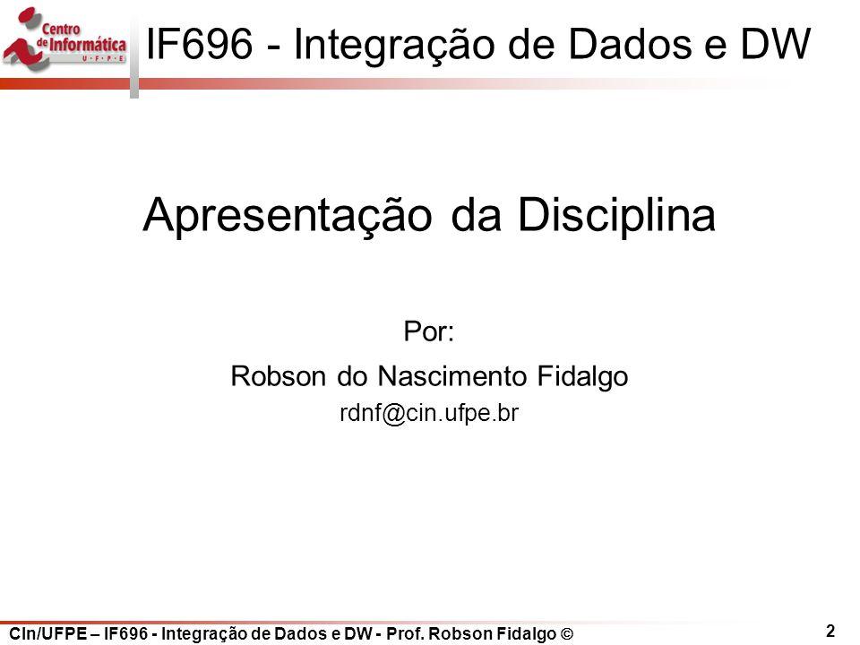 IF696 - Integração de Dados e DW