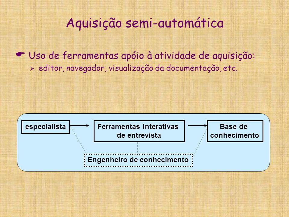 Aquisição semi-automática