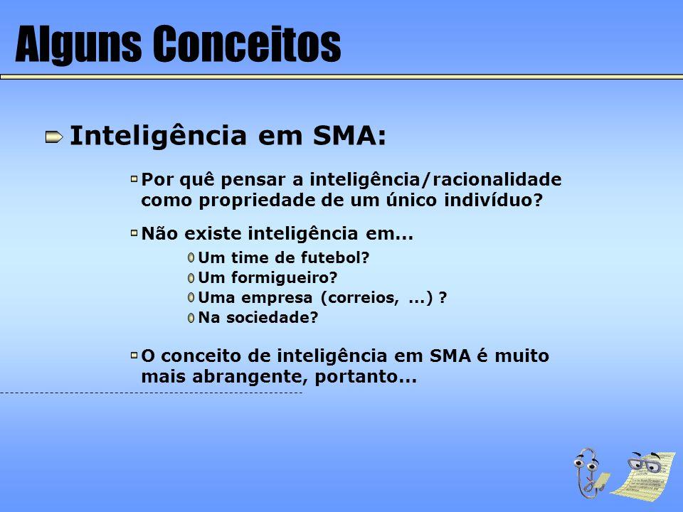 Alguns Conceitos Inteligência em SMA: