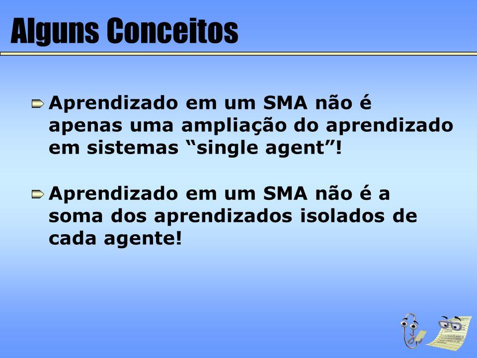 Alguns Conceitos Aprendizado em um SMA não é