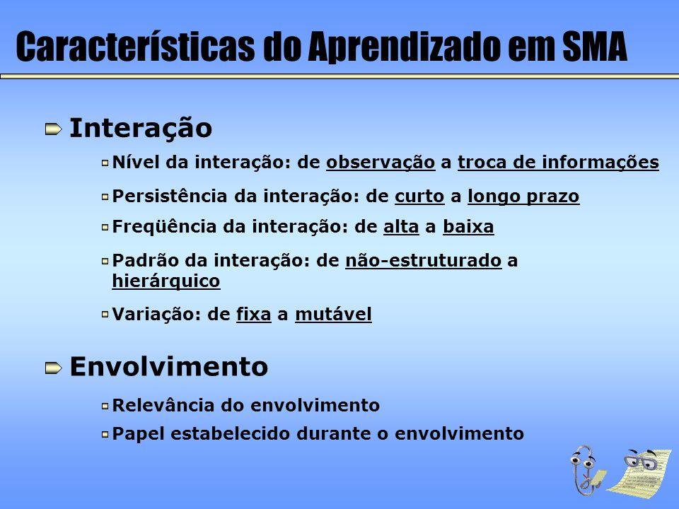 Características do Aprendizado em SMA