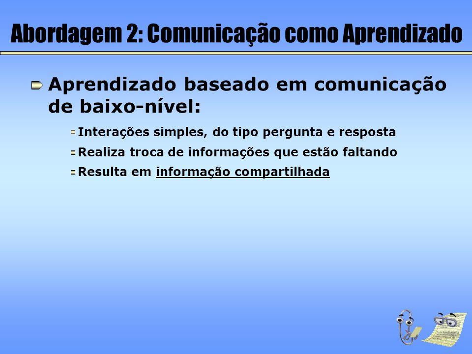 Abordagem 2: Comunicação como Aprendizado