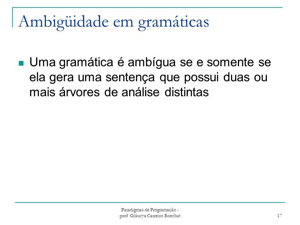Ambigüidade em gramáticas