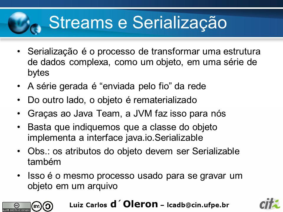 Streams e Serialização
