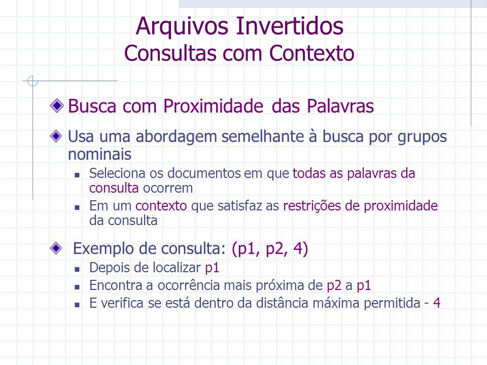 Arquivos Invertidos Consultas com Contexto