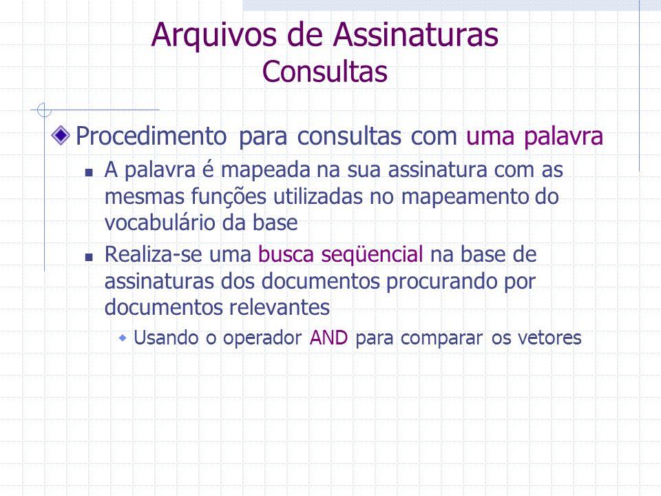 Arquivos de Assinaturas Consultas