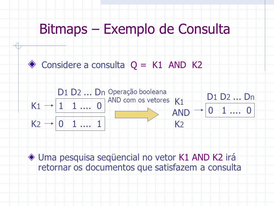 Bitmaps – Exemplo de Consulta
