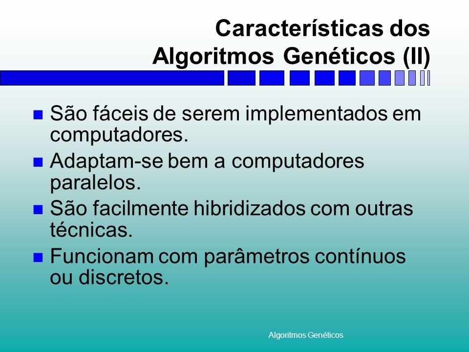 Características dos Algoritmos Genéticos (II)