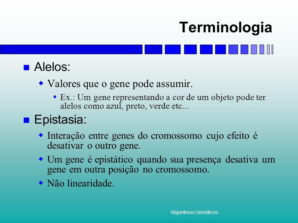 Terminologia Alelos: Epistasia: Valores que o gene pode assumir.