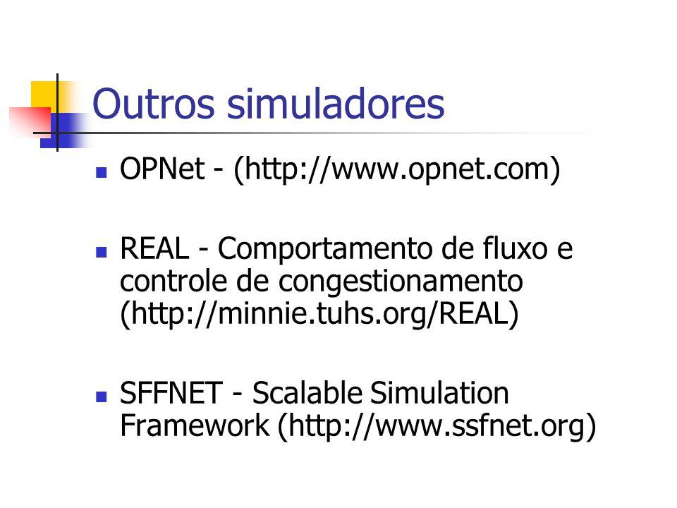 Outros simuladores OPNet - (http://www.opnet.com)