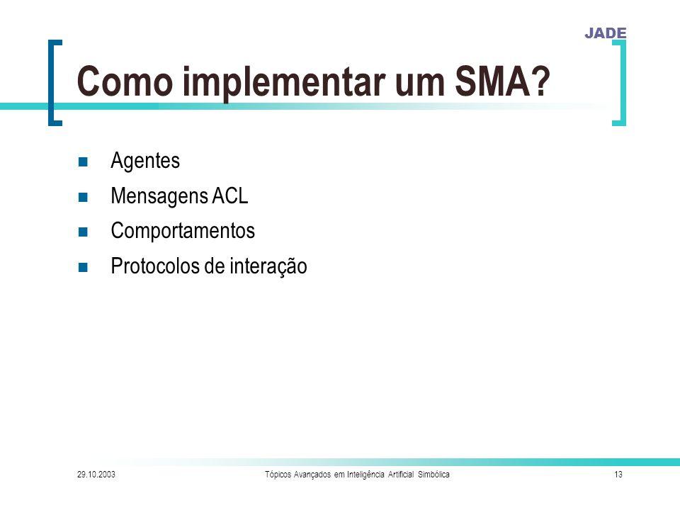 Como implementar um SMA