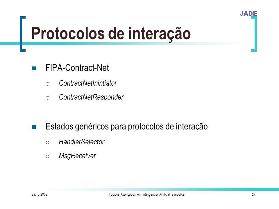 Protocolos de interação