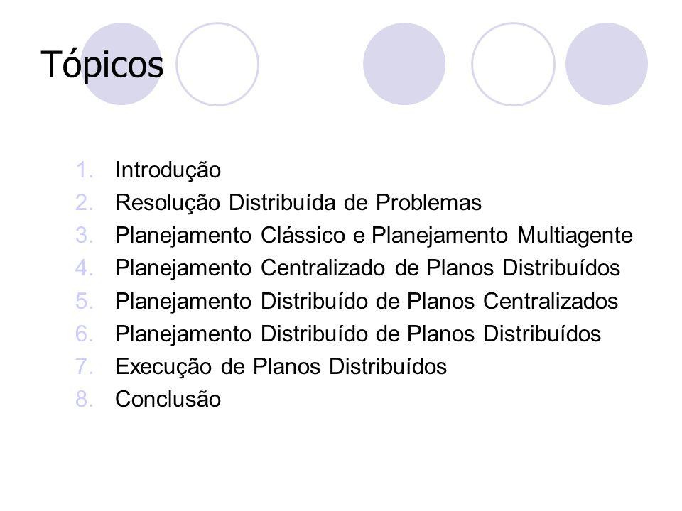 Tópicos Introdução Resolução Distribuída de Problemas