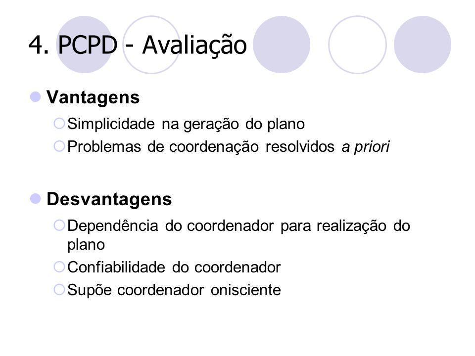 4. PCPD - Avaliação Vantagens Desvantagens