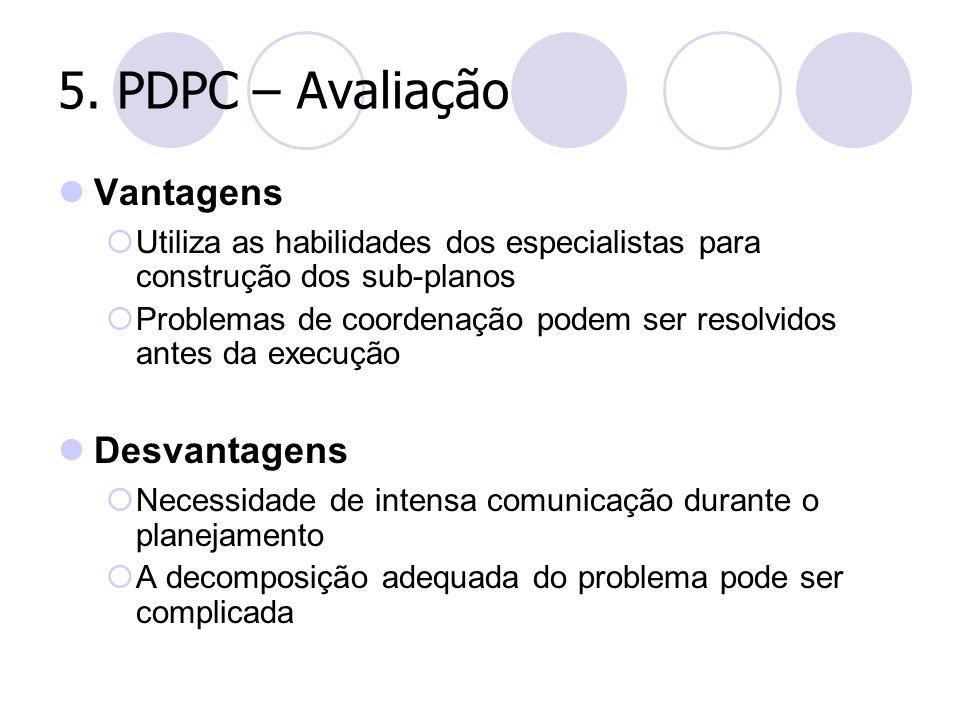 5. PDPC – Avaliação Vantagens Desvantagens