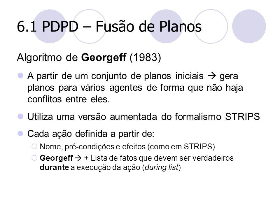 6.1 PDPD – Fusão de Planos Algoritmo de Georgeff (1983)